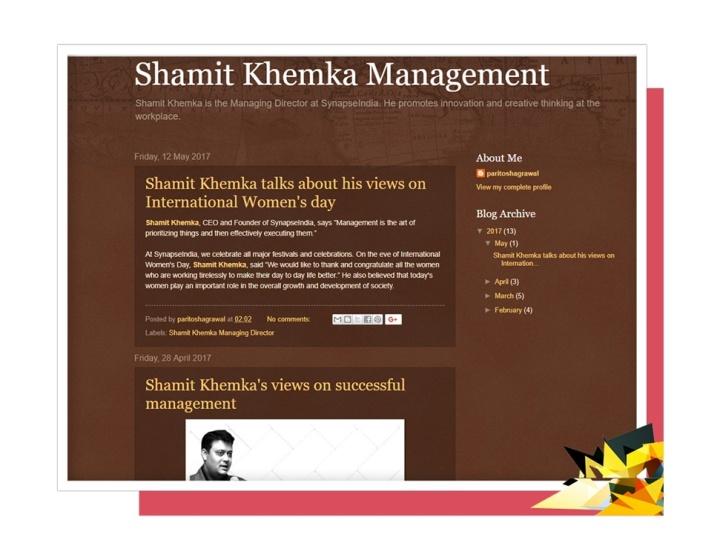 shamit khemka management.blogspot