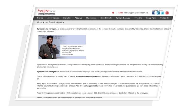 shamit khemka synapseindia careers
